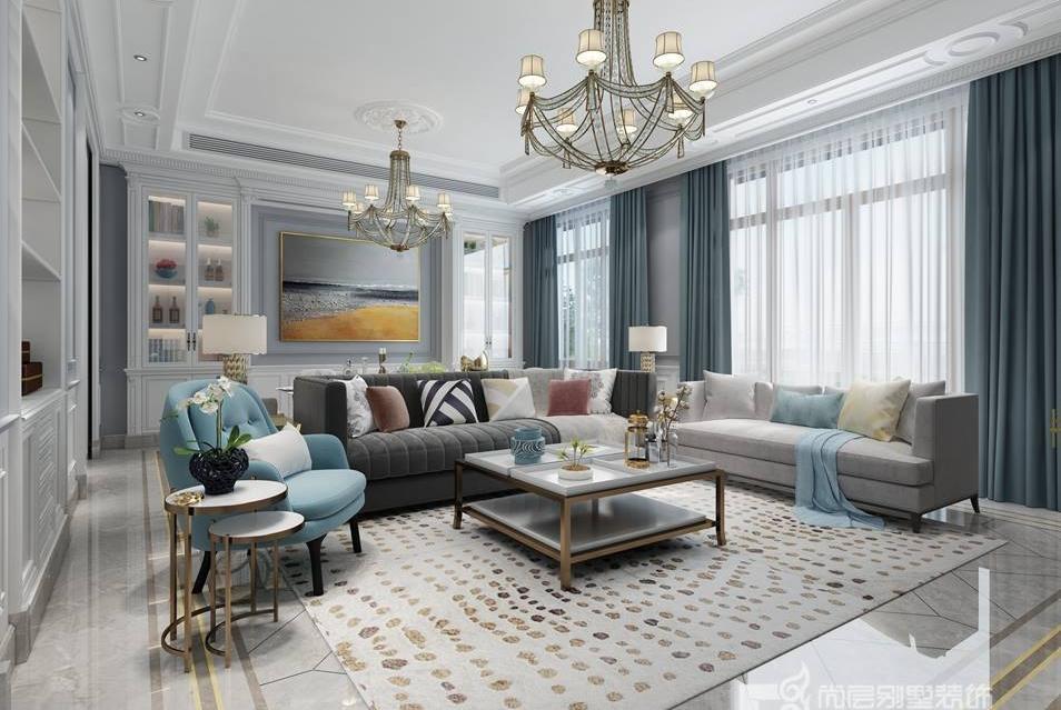 美式现代混搭_别墅设计丨混搭风格 现代法式和美式的碰撞