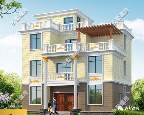 300平豪华四层别墅,这样的房子,只有我们村土豪才能建的起!