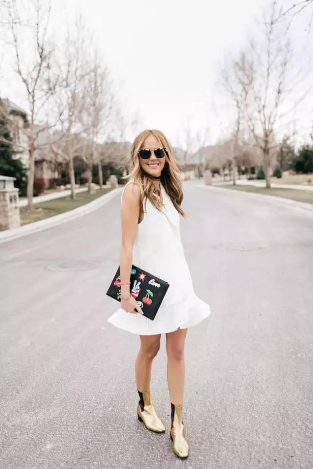 白裙子配什么颜色鞋子 白色裙子配鞋效果图